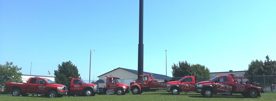 "<a href=""https://hookertowing.com/the-equipment-to-get-it-done-right/""><b>The Equipment to Get it Done RIGHT!</b></a><p>We have a fleet of trucks to handle just about any situation! Give us a call today to see what we can do for you!</p>"